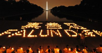 Candle light vigil on Capitol Hill July 2005