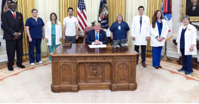 President Trump honors frontline health care workers for 'heroically' responding to CCP Virus