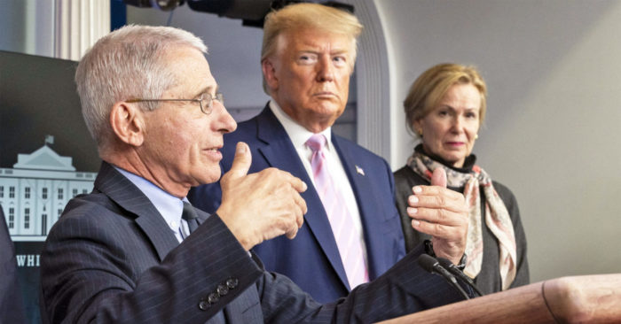 Anthony Fauci Donald Trump Deborah Birx