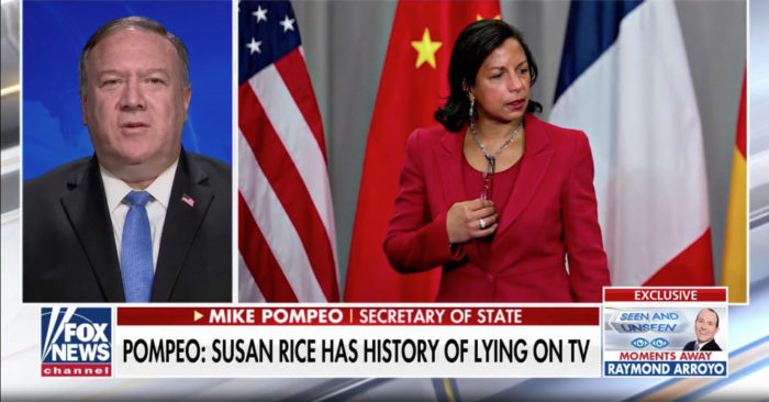 Mike Pompeo slams Susan Rice over claim on Russian bounties intel: She 'has a history of going on Sunday shows and lying'