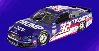 NASCAR's Corey LaJoie will advertise Trump 2020 campaign on his Mustang at the Brickyard 400