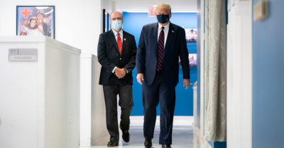 "President Trump is asking the public to co-operate and wear a mask, ""I don't love wearing them either"" he adds"