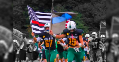 Two Ohio football players suspended for carrying flags supporting police and firefighters