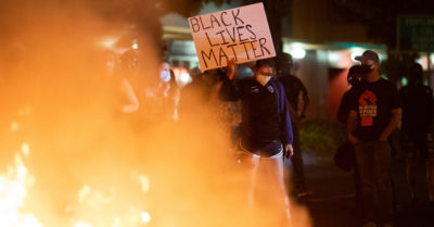 The BLM movement was involved in 91% of the recent riots, a study revealed