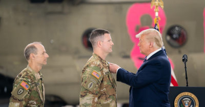 Hundreds of military family members support the president for his patriotism and respect in an open letter 'We stand tall with you'