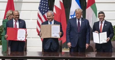 President Trump ratified historic Israel, Arab Emirates, Bahrain peace accords at White House