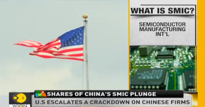 Shares of China's largest chip manufacturer plummet in the face of possible US sanction