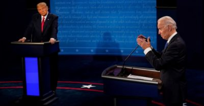 Tense moment in the debate as Biden fails to respond to unethical business involving his family