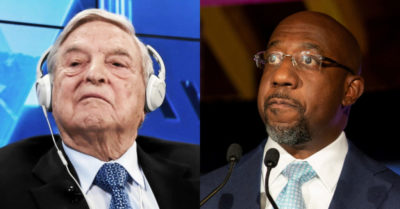 Soros-funded group calling to stop police funding supports Senate candidate Raphael Warnock (D)