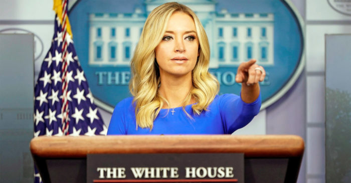 Kayleigh McEnany pointing