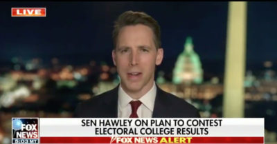 Hawley pushes back against pressure from McConnell on Electoral College votes: 'Somebody has to stand up'
