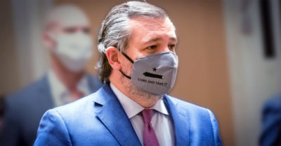 Sen Ted Cruz wears NRA 'come and take it' face mask to Joe Biden's inauguration