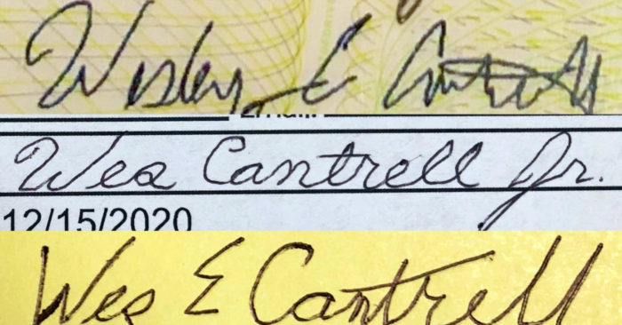 Wes Cantrell signatures