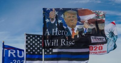 Business owner willing to pay fines, 'go to jail' to fly Trump flag despite violating Minnesota city rules