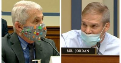 Rep. Jim Jordan  in a shouting match blasts Dr. Fauci on when COVID restrictions will end