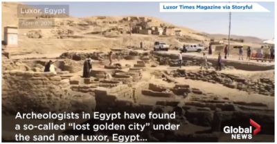 3,000-year-old 'lost golden city'–an 'Egyptian version of Pompeii' discovered in Egypt