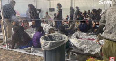 Secret recordings: 'Filthy' conditions of thousands of migrant children held in Texas tent camp