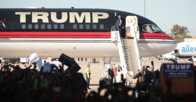 'Trump Force One' getting a new look: Donald Trump preparing for future rallies