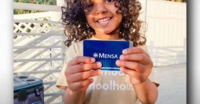 2-year-old from California becomes America's youngest Mensa member with an IQ of genius 146