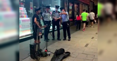 Street musician arrested in Hong Kong for performing pro-freedom song