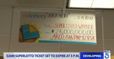 California: Woman accidentally throws $26M lottery prize in laundry