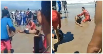 A second shark attack occurred within 2 weeks on the beach where 13 shark attacks have been reported