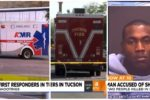 Arizona firefighters and emergency medical technicians (EMT) seriously attacked in mass shooting while on duty