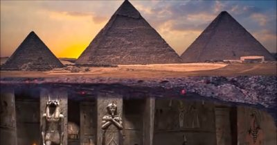 There is a hidden underground 'city' beneath the Giza Pyramids, experts claim