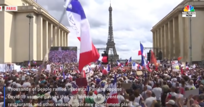 Thousands of people protest mandatory immunizations, vaccine passports in France
