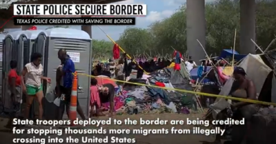 'Feels like another country' tens of thousands of migrants gather under Texas bridge