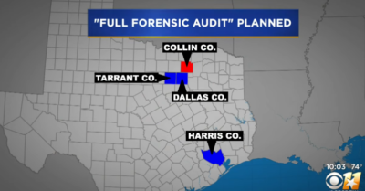 Texas announces a full 2020 forensic election audit in four counties