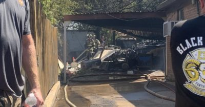 Multiple injuries reported after military plane crashes in Texas backyard