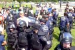 There were more police and journalists than demonstrators at the 'Justice for J6' rally