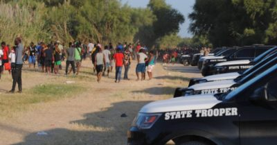 Texas law enforcement secures border before Biden admin expected to come to expel migrants