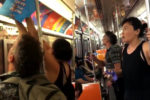 Outraged people take down obscene dating app ads in New York subway (VIDEO)