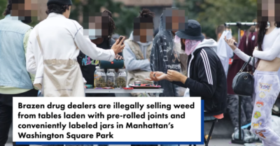 Dealers openly sell marijuana in busy NYC park