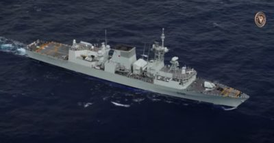 The Chinese military protests US and Canadian warships sailing through Taiwan Strait
