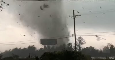 Tornadoes rip through Orange County, Texas, causing blinding explosions