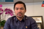 Manny Pacquiao says he will confront Beijing if he becomes president of the Philippines