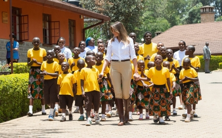 First Lady Melania Trump Takes Her Message of Child Well-Being to Africa