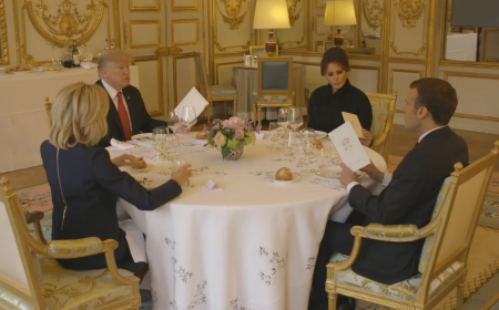 President Trump and First Lady Melania Trump Travel to France