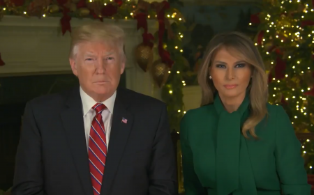 Merry Christmas from President Trump and first lady Melania Trump!