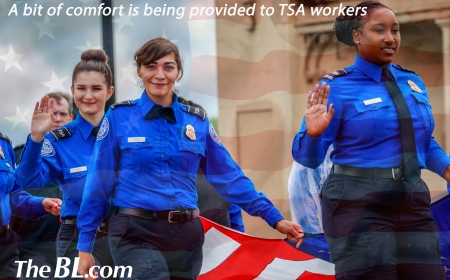 The BL news-A bit of comfort is being provided to TSA workers