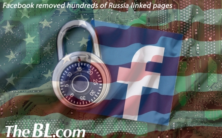The BL news-Title  Facebook removed hundreds of Russia linked pages
