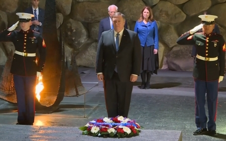 US Secretary of State Pompeo visits the Holocaust Memorial Museum in Jerusalem