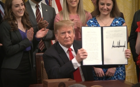 President Trump signs Executive Order protecting free speech on campus and promote transparency with Student loans