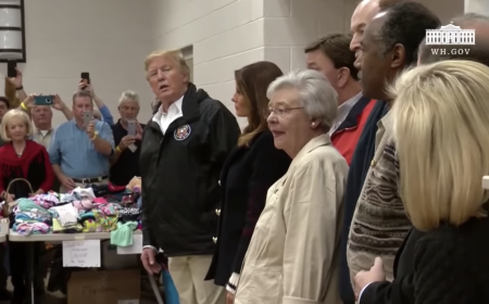 President Trump's Remarks at a Disaster Relief Center in Alabama