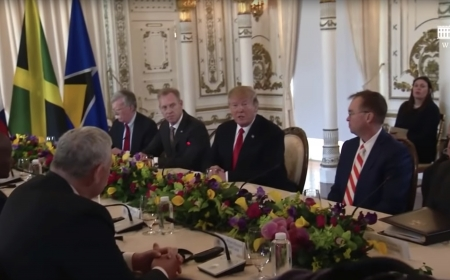 President Trump and The First Lady Participate in a Working Visit with Caribbean Leaders