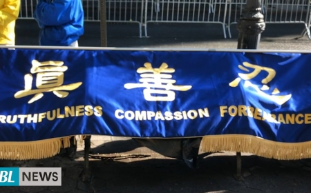 Thousands of Falun Dafa practitioners gather in New York City