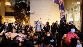 Hong Kongers gather in Admiralty, to urge the new British Parliament to help end the CCP's rule